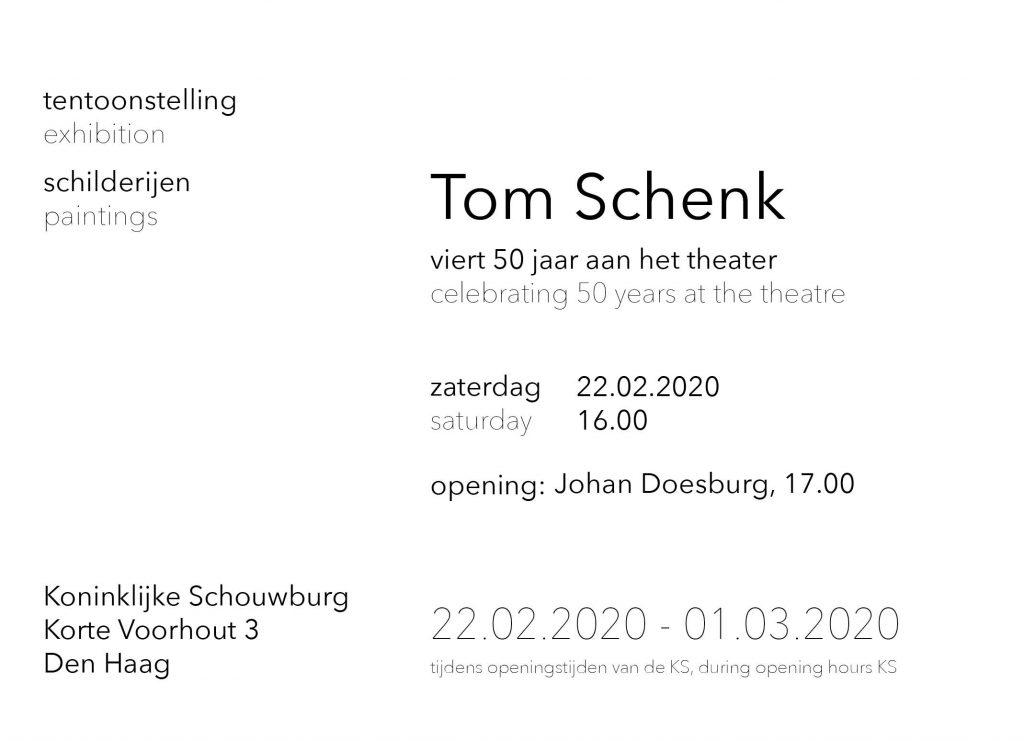 tentoonstelling exhibition Tom Schenk Koninklijke Schouwburg Den Haag 50 jaar aan het theater 50 years at the theatre
